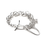 RT Br2 - multi linked bracelet, forged clasp, silver.