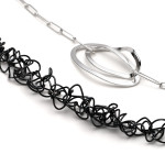 RT N1- forged and formed, asymmetric design, silver & oxidized silver. length approx 410mm, also available in 260mm.
