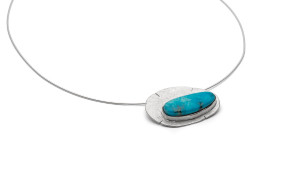 Pendant with a stunning Royston natural turquoise